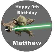 """Star Wars Yoda 7.5"""" Cake Topper Personalised  Edible Wafer Paper"""