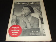 "Ilse Werner … on cover … ""Münchner Illustrierte"" … 1952"