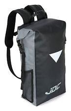 JDC Motocicleta Mochila 100% Impermeable Seco Bolsa 30L-Negro/Gris