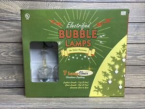 Electrified Bubble 7 Lamps Christmas Lighting Clear Gold Glitter Indoor Use