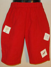 New 100% Cotton Red Boys Girls Kids Summer Holiday Shorts Small 4-6 Years