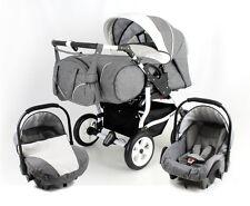 Beautiful TWIN DUO STARS Pram/pushchair/stroller+ 2 car seats