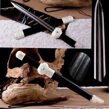 Hand Forged Refinings Pattern Steel JinLan Sword silver-plated Fittings #1724