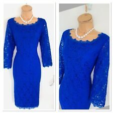 JOSEPH RIBKOFF Blue Lace Dress UK Size 12