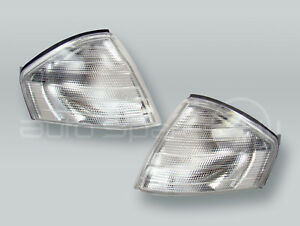 TYC Clear Corner Lights Parking Lamps PAIR fits 1990-2002 MB SL-Class R129