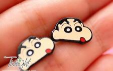 Crayon Shin-chan boys metal earring ear stud earrings 2PCS earring new
