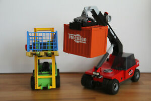 Playmobil Set Teleskoplader und Gabelstapler