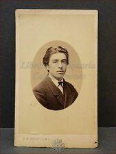 Giovane Uomo in Posa Photo CDV 1860/1870 ca. Sciutto Genova Ritratto in Ovale