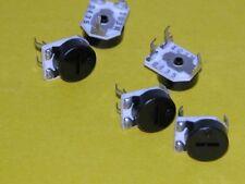 5pk- 10K Thumbwheel Pots  (#blktop)