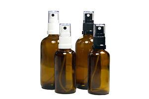 Braunglasflasche  Apothekenflasche mit Pumpzerstäuber