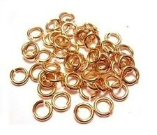 BRONZE SOLID 18GA WIRE 6 MM O/D 280 pcs. 1 OZ CHAIN MAILLE  JUMP RING SAW-CUT