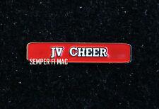 JUNIOR VARSITY CHEER COLLECTOR PIN HIGH SCHOOL COLLEGIATE JACKET BROACH CHEER JV