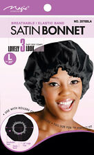 "Magic Collection Satin Bonnet Breathable Elastic Band Size 20""L #2078BLA**"