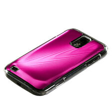 SAMSUNG GALAXY S2 T989 T-MOBILE BRUSHED ALUMINUM PLATE ACRYLIC CASE HOT PINK