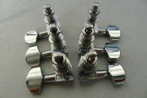 3L+3R OEM ESP Guitar Tuners Tuning Pegs machine Chrome