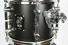 "Sonor SQ1 - 8""x7"" Tom - GT Black 7mm Birch Shell  New Sound Sustainer Isolation"