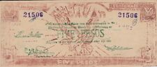 Philippines banknote emergency military 5 pesos Cagayan (1944) P-S191 S191a  XF