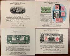United States BEP B 44-47 Souvenir Cards 1978-80 Mint