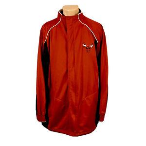 Reebok NBA Chicago Bulls Jacket (Men Size XL) Vintage Retro Full Zip Outerwear