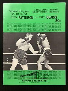 Floyd Patterson vs. Jerry Quarry Official Fight Program Oct 28 1967 10/28/67 VG