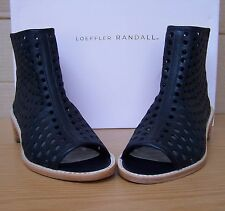 """Loeffler Randall """"Ione"""" Perforated Open Toe Booties - Black Size 6M"""