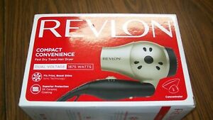 Lightweight + Compact Travel Hair Dryer, Black,1875W- Revlon
