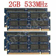 8GB 4x 2GB / 1GB PC2-4200S 533MHz DDR2 SODIMM Laptop RAM Memory For NANYA LOT UK