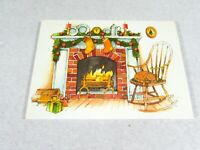 Christmas Postcards  Fireplace Rocking Chair Stockings Vintage Gibson Set of 20