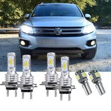 For VW Tiguan 5N 2007-11 - 6X Front Led HID Headlight High/Low/Side Light Bulbs