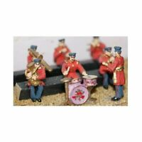 Seated Band-Civil Uniform (8 figures) Unpainted - OO Figures Langley LANGF107