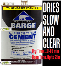 Gallon Barge Original Slow Dry & Dries Clear Rubber Contact Cement Glue Adhesive