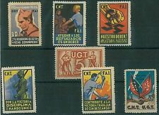 GUERRA CIVIL  SPAIN España - POSTER STAMPS and benefic stamps - NICE - Beneficos