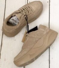 Zara Sand Split Suede Leather Platform Sneakers Trainers UK7 EU40 US9 #002