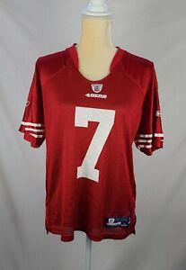 Reebok NFL on Field 49ers 7 Kaepernick Ladies Jersey sz L (14-16)