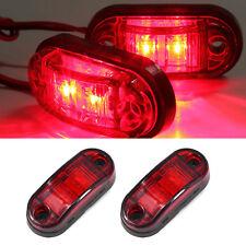 2x 12/24V Rouge 2 LED Lampe Feux Position Gabarit Latéral E-mark Camion Remorque