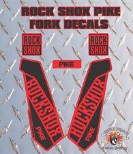 ROCK SHOX BROCHET Fourche Autocollant graphique Vélo VTT en bas Hill VTT Rouge