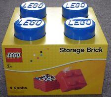 LEGO storage brick 4 knob blue