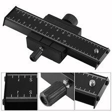 "Macro Focusing Focus Rail Slider Close-up 1/4"" Screw For Canon DSLR Camera DY"