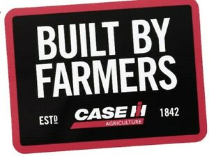 """Case IH Built By Farmers 4"""" x 3"""" Decal"""