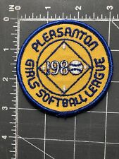 Vintage Pleasanton Girls Softball League 1980 Patch GSL Baseball California CA