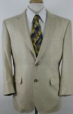Jos. A. Bank Men's 2 Button Sport Coat Sz 40 S Beige Color 100% Silk Soft Feel
