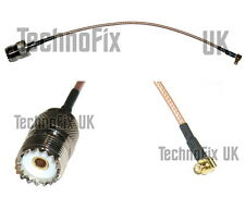 MCX right-angled male to SO239 UHF female pigtail for RTL-SDR dongle etc.