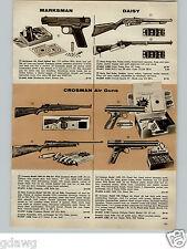 1956 PAPER AD Daisy Air Rifle BB Gun PPump Action Red Ryder Carbine Crosman