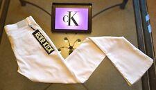 Calvin Klein Womens Jeans Rckr Kick Flared Skinny White Sz. W28 L34 BNWT