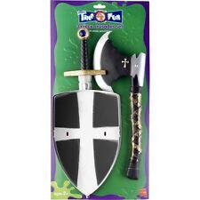 Boy's Knight Sword & Shield Set Medieval Fancy Dress King Arthur Kids Party Fun