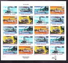 US 3095b 32c Riverboats Special Die Cut Mint Sheet SCV $260