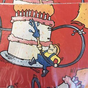 Firefighter Gift Wrap Vintage Artfaire Firemen Dalmatian Two Sheets 20in X 30in