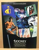 Vintage 1984 Jockey Jim Palmer Underwear Briefs Mark Breland Print Advertisement