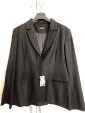Stunning Women's T M Lewin Black 100% Wool Smart Suit Jacket Uk 18 BNWT