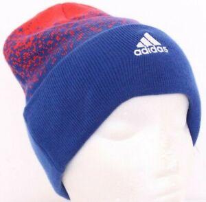 NEW Kansas KU Jayhawks Cuffed Adidas Blue Beanie Cap Winter Stocking Hat OSFA